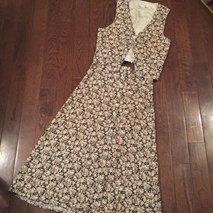 Matching vintage 2 piece skirt set